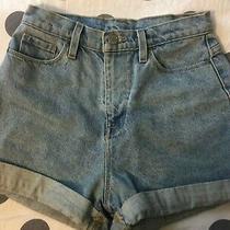 Bdg Urban Outfitters Mom High Rise Denim Cuffed Short 26w Photo