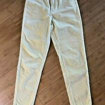 Bdg Urban Outfitters Pale Yellow Corduroy Mom- High Rise Pants Size 28 Photo