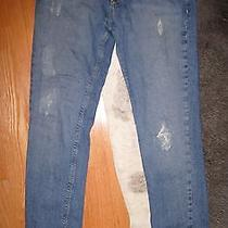 Bdg Urban Outfitters Skinny Jeans Size 31 X 33 Long Medium Blue Distressed Denim Photo