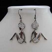 Beach Girl Dangle Earrings Clear Swarovski Crystal E1183 Photo