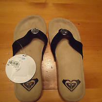 Beach Slippers by Roxy Womens Size 6.5 Black (Macy's) Photo