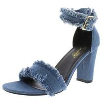 Beacon Womens Christy Blue Canvas Shoes Heels Sandals 10 Medium (Bm) Bhfo 2437 Photo