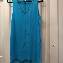 Beaded Sparkle & Fade Neon Blue Stud Dress Urban Outfitters Size L Photo
