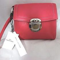 Beautiful 100% Authentic Marc Jacobs Pink Wrist Clutch Calf Leather Photo