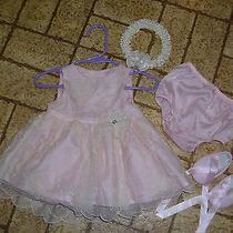 Beautiful 5 Piece Baby Formal / Wedding Dress Set by Camilla. Sz. 0-3 Mos. Photo