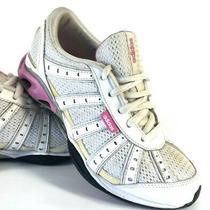 Beautiful   Adidas Women's Size 6.5 Athletic Running Shoes White/pink Photo