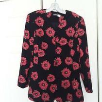 Beautiful Akris Floral Blazer Jacket  Size Us 10 Black Floral Photo