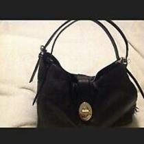 Beautiful Authentic Black Coach Hobo Handbag Soft Leather. Photo