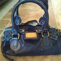 Beautiful Authentic Chloe Navy Paddington Photo