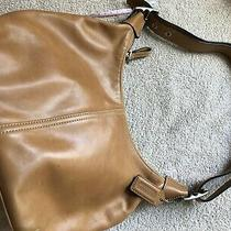 Beautiful Authentic Coach Tan Smooth Leather Handbagpurse W/matching Wallet  Photo