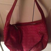 Beautiful Authentic Red Coach Bag Like Brand New in Great Condition  Photo