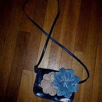 Beautiful Banana Republic Blue Flower Leather Messenger Pursecute Photo