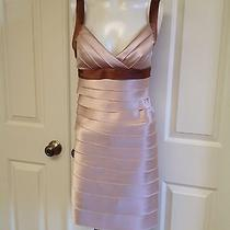 Beautiful Bcbg Maxazria Beige Layered Silk Dress- Size 2- Nice Photo