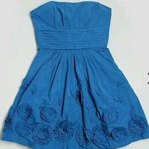 Beautiful Bcbg Maxazria Strapless Taffeta Party Dress Larkspur Blue Size 0 Photo