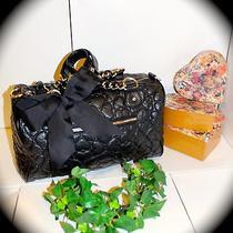 Beautiful Betsey Johnson Heart Hobo Black Handbag Photo