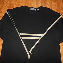 Beautiful Black Express Long Sleeve Sweater Size L 100% Acrylic Photo