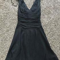 Beautiful Black Express Size 0 Dress 100% Silk With Polyester Lining Photo
