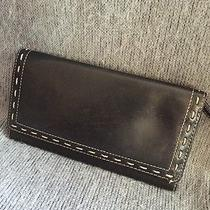 Beautiful Black Leather Ladies Fossil Checkbook Wallet Photo