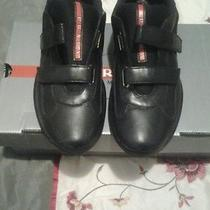 Beautiful  Black Leather Men Prada Shoes Sz 7 Free Shipping Photo