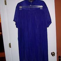Beautiful Blue 2-Piece Skirt Setalexander Campbellxcsize 12sandwashed Silk Photo