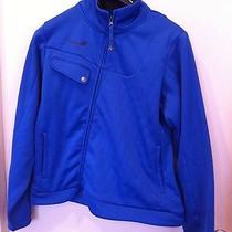 Beautiful Blue B by Burton Softshell Fleece Jacket Asymmetrical Xl  Photo