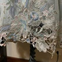 Beautiful Blue Bebe Lace Embroidered Floral Cocktail Dress Short Sleeveless Sz 2 Photo