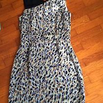 Beautiful Blue/tan Cocktail Dress-Size8-Matthew Williamson for Macys Photo
