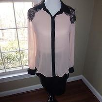 Beautiful Blush and Black Blouse Photo