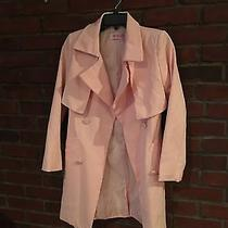 Beautiful Blush Colored Belted Trench Coat Women's Fast Ship From Nyc Photo