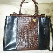 Beautiful Brahmin Bernadette Business Bag Briefcase Tote - Tuscan - Croc Look Photo