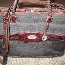Beautiful Brighton Brown Black Briefcase Laptop Bag Carry on Computer Tote  Photo