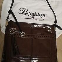 Beautiful Brighton Rae Slim Graphite Patent Leather Purse Shoulder Bag  Photo