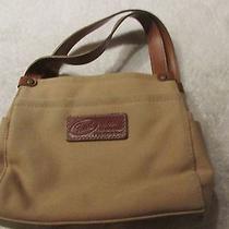 Beautiful Brown Canvas Handbag by Fossil Photo
