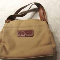 Beautiful Brown Canvas Handbag by Fossil Photo