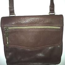 Beautiful Brown Leather Fossil Cross Body/messenger Purse/bag Photo