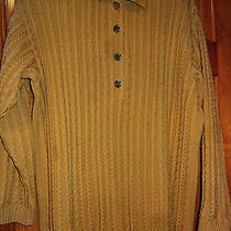 Beautiful Cable Knit  Golden Beige  Escada Sweater Size L Photo