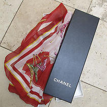 Beautiful Chanel Scarf 100% Silk New With Box. Photo