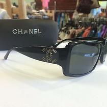 Beautiful Chanel Sunglasses 5114 Black Rhinestone Logo Photo