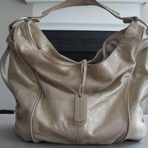 Beautiful Charles David Designer Gold Leather Hobo Purse Bag Photo