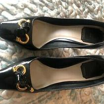 Beautiful Christian Dior Black Monogram Logo Heels Pumps Shoes Size 38 Photo