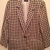 Beautiful Christy Girl Brown and Creme Tweed Blazer   Size 10 Photo