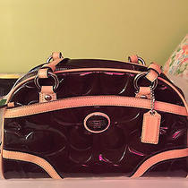 Beautiful Coach Brown Patent Leather Handbag Photo
