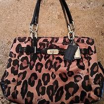 Beautiful Coach Chelsea Ocelot Leopard Tote Shoulder Bag Purse  Photo