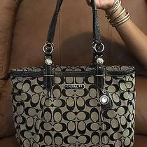 Beautiful Coach Gallery Signature East West Tote Black White/black Photo