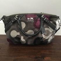 Beautiful Coach Handbag Purple/black/grey Photo