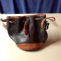 Beautiful  Coach Leather Drawstring Handbag Very Good Condition Photo