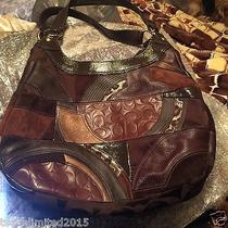 Beautiful Coach Maggie Brown Suede & Leather F15462 Handbag With Matching Wallet Photo