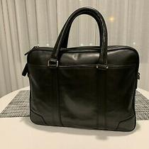 Beautiful Coach Mens Black Briefcase - Slim Brief - Saddle Leather- Rarely Used Photo