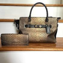 Beautiful Coach Satchel and Matching Wallet Photo