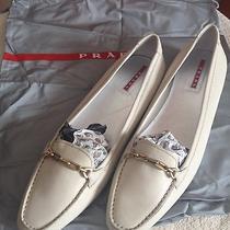 Beautiful Cream Prada Driving Loafers Size 39 1/2 Brand New Photo
